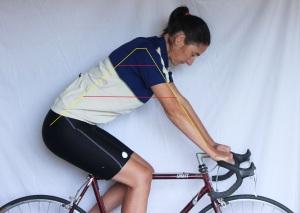 correct riding position with lines