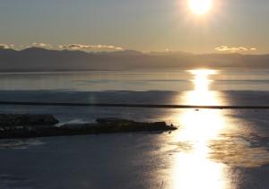 Sunset from the ridgeline Walters Bluff  Nelson NZ
